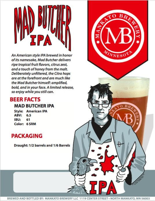 Mankato Brewery Mad Butcher IPA