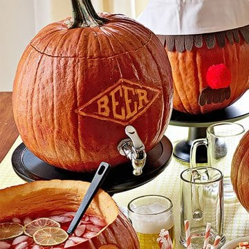 Beer pumpkin carving inspiration Pumpkin carving beer